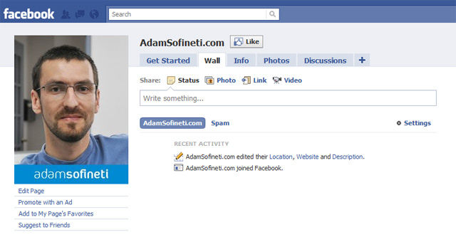 AdamSofineti.com on Facebook