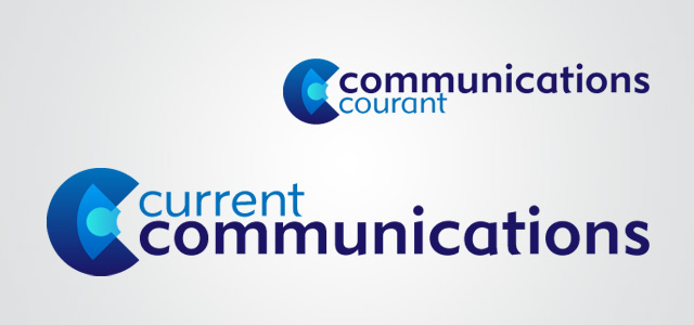 Current Communication logo, designed by Adam Sofineti