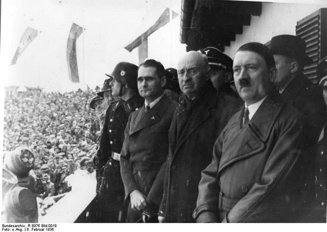 Count Henri de Baillet-Latour at the opening ceremony of the 1936 Winter Olympics