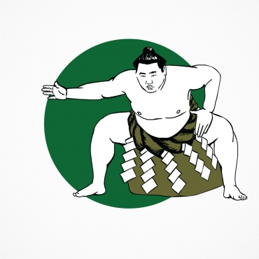 Illustration d'un combattant de sumo